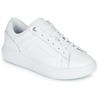 Sapatos Mulher Sapatilhas Tommy Hilfiger LEATHER TOMMY HILFIGER CUPSOLE Branco