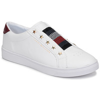 Sapatos Mulher Sapatilhas Tommy Hilfiger TOMMY HILFIGER ELASTIC SLIP ON Branco