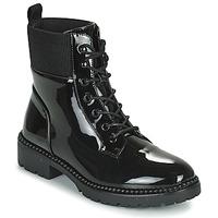 Sapatos Mulher Botas baixas Les Petites Bombes AMBELLINE Preto