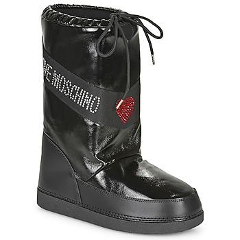 Sapatos Mulher Botas de neve Love Moschino JA24022G1B Preto