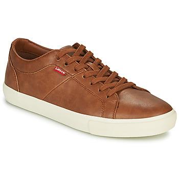Sapatos Homem Sapatilhas Levi's WOODWARD Castanho