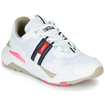 Sapatos Mulher Sapatilhas Tommy Jeans WMN TOMMY JEANS COOL RUNNER Branco / Azul / Vermelho