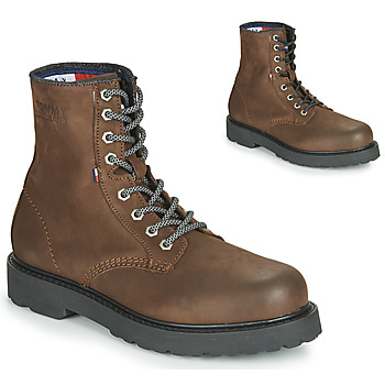 Sapatos Homem Botas baixas Tommy Jeans NUBUCK WARMLINED LACE UP BOOT Castanho