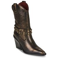 Sapatos Mulher Botins Bronx NEW KOLE Preto / Ouro