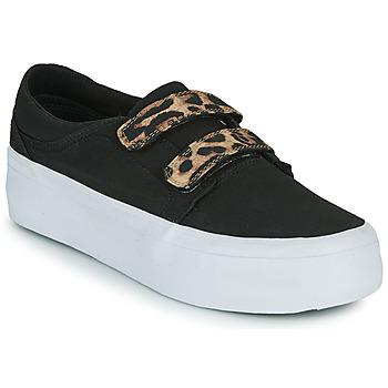 Sapatos Mulher Sapatilhas de cano-alto DC Shoes TRASE PLATEFORM V Preto / Leopardo