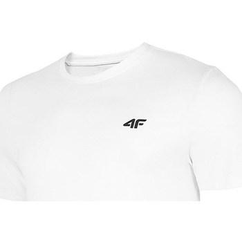 Textil Homem T-Shirt mangas curtas 4F TSM003 Branco