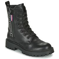 Sapatos Criança Botas baixas Tommy Hilfiger  Preto