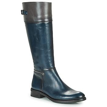 Sapatos Mulher Botas Dorking TIERRA Azul / Cinza