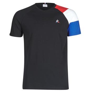 Textil Homem T-Shirt mangas curtas Le Coq Sportif ESS TEE SS N°10 M Preto