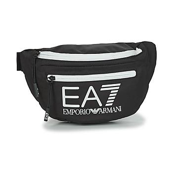 Malas Pochete Emporio Armani EA7 TRAIN CORE U SLING BAG Preto / Branco