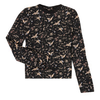 Textil Rapariga T-shirt mangas compridas Ikks XR12052 Preto
