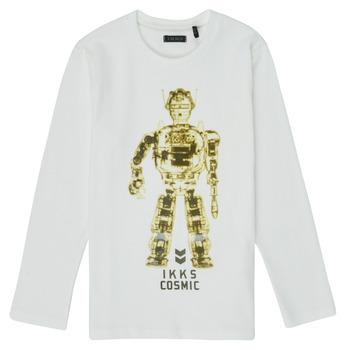 Textil Rapaz T-shirt mangas compridas Ikks XR10233 Branco