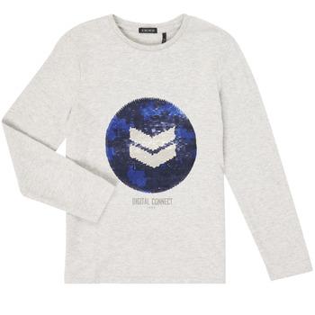 Textil Rapaz T-shirt mangas compridas Ikks XR10273 Cinza