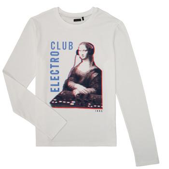 Textil Rapaz T-shirt mangas compridas Ikks XR10333 Branco