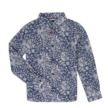 Textil Rapaz Camisas mangas comprida Ikks XR12023 Azul