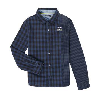Textil Rapaz Camisas mangas comprida Ikks XR12123 Azul