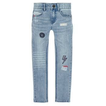 Textil Rapaz Calças de ganga slim Ikks XR29053 Azul