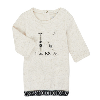 Textil Rapariga Vestidos curtos Ikks XR30180 Bege