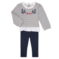 Textil Rapariga Conjunto Ikks XR36030 Marinho / Branco