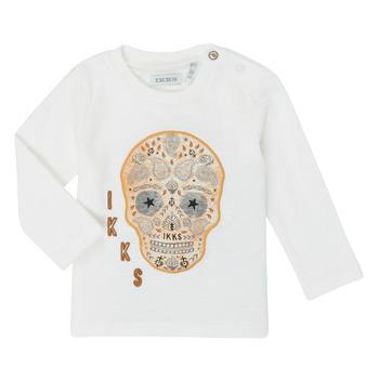 Textil Rapaz T-shirt mangas compridas Ikks XR10141 Branco