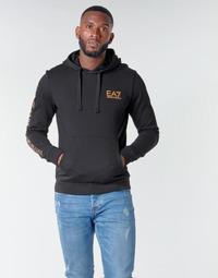 Textil Homem Sweats Emporio Armani EA7 TRAIN LOGO SERIES M HOODIE RN COFT Preto