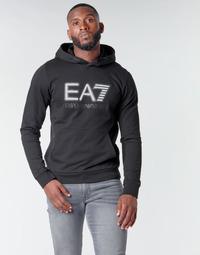 Textil Homem Sweats Emporio Armani EA7 TRAIN VISIBILITY M HOODIE RN COFT Preto
