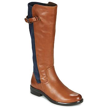 Sapatos Mulher Botas Caprice 25504-387 Conhaque / Azul