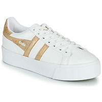 Sapatos Mulher Sapatilhas Gola ORCHID PLATEFORM Branco / Ouro