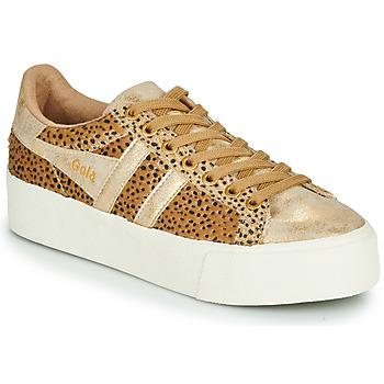 Sapatos Mulher Sapatilhas Gola ORCHID PLATEFORM SAVANNA Ouro / Leopardo
