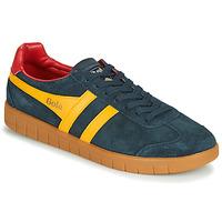 Sapatos Homem Sapatilhas Gola HURRICANE Marinho / Amarelo
