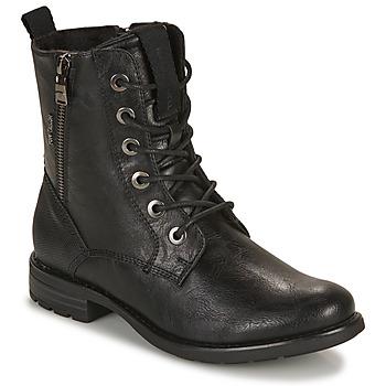 Sapatos Mulher Botas baixas Tom Tailor 93303-NOIR Preto