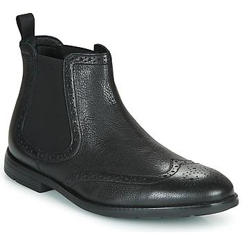 Sapatos Homem Botas baixas Clarks RONNIE TOP Preto