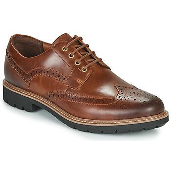Sapatos Homem Sapatos Clarks BATCOMBE WING Camel