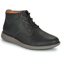Sapatos Homem Sapatos Clarks UN LARVIK TOP2 Preto