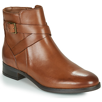 Sapatos Mulher Botas baixas Clarks HAMBLE BUCKLE Castanho