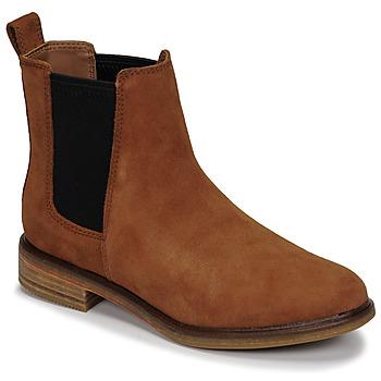 Sapatos Mulher Botas baixas Clarks CLARKDALE ARLO Camel