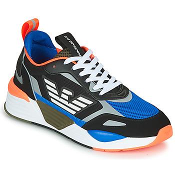 Sapatos Homem Sapatilhas Emporio Armani EA7 XK165 Preto / Azul / Laranja