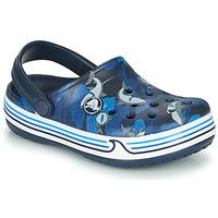 Sapatos Rapaz Tamancos Crocs CROCBAND SHARK CLOG PS Marinho