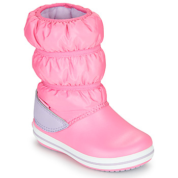 Sapatos Rapariga Botas de neve Crocs CROCBAND WINTER BOOT K Rosa