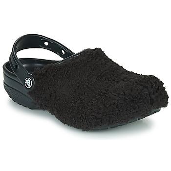 Sapatos Tamancos Crocs CLASSIC FUZZ MANIA CLOG Preto
