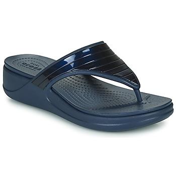 Sapatos Mulher Chinelos Crocs CROCSMONTEREYMETALLICSTPWGFPW Marinho