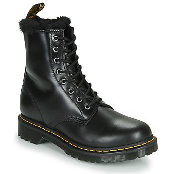Sapatos Mulher Botas baixas Dr Martens 1460 SERENA Preto