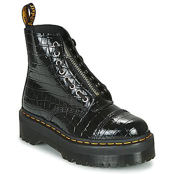 Sapatos Mulher Botas baixas Dr Martens Sinclair Preto / Crocodilo