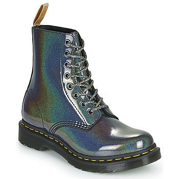 Sapatos Mulher Botas baixas Dr Martens VEGAN 1460 PASCAL Prata