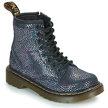 Sapatos Rapariga Botas baixas Dr Martens 1460 J Preto / Metalizado