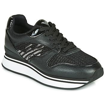 Sapatos Mulher Sapatilhas Emporio Armani  Preto