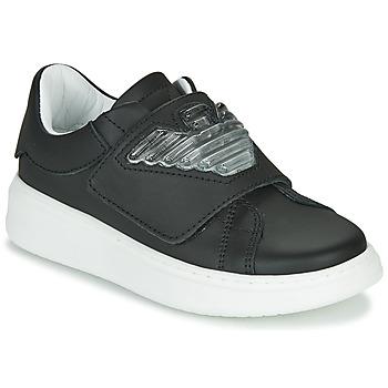 Sapatos Criança Sapatilhas Emporio Armani XYX014-XOI08 Preto