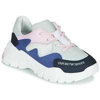 Sapatos Rapaz Sapatilhas Emporio Armani  Branco / Azul