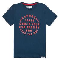 Textil Rapaz T-Shirt mangas curtas Kaporal ORVAL Marinho