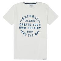 Textil Rapaz T-Shirt mangas curtas Kaporal ORVAL Branco